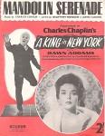 """NOTEN - FILMMUSIK - CHARLIE CHAPLIN  - """"Mandolin Serenade"""" - England 1957"""