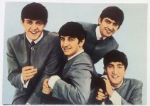 BEATLES - Maxi-Postkarte im Querformat - VINTAGE !!