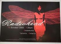 GIG-Poster - RADIOHEAD - Snowdome, Toronto - HANDSIGNIERT vom Künstler