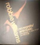 """Zum Release: ROBBIE WILLIAMS / """"No Regrets"""" - """"Antmusic"""" - WINDOW-Sticker, 1998"""