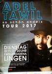 """ADEL TAWIL - Konzertplakat """"So schön anders""""-Tour - LINGEN 2017"""