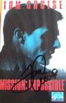 "TOM CRUISE - ORIGINAL- Unterschrift auf VHS-COVER ""Mission: Impossible"""