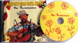 """CD - JÜRGEN VON DER LIPPE - """"Der Blumenmann"""" - HANDSIGNIERT !!"""