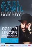 ADEL TAWIL - HANDZETTEL / FLYER - Konzertankündigung