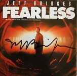 "Soundtrack zum Film ""FEARLESS"" - Handsigniertes Cover - JEFF BRIDGES"