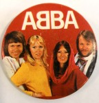 Großer ABBA - Button - Original von ca. 1980