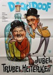 """Plakat - DICK und DOOF in """"Jubel, Trubel, Heiterkeit"""" - ca.  60er Jahre"""