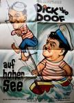 """Plakat - """"DICK UND DOOF auf hoher See"""" - Deutschland ca. 60er Jahre"""