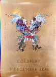 """COLDPLAY - Promo-Poster für """"A Head Full Of Dreams"""" - LIVE-CD / DVD"""