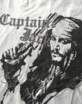 JOHNNY DEPP - auf frühem Merchandise T-Shirt - FLUCH DER KARIBIK