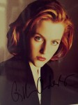 GILLIAN ANDERSON - FOTO mit reproduziertem Autogramm - AKTE X