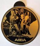 Rarität: ABBA - Aufkleber - RIESIG: 20cm Durchmesser - 70er Jahre - unused