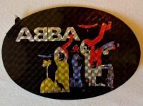 Unbenutzter ABBA- Aufkleber - Original 70er Jahre !! (oval,3)