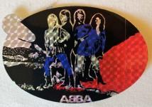 Original aus den 70ern: ABBA- Aufkleber - unbenutzt ! (oval,4)