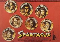 """USTINOV, DOUGLAS, CURTIS - Film- Postkarte """"SPARTACUS"""" - England ca. 80er Jahre"""