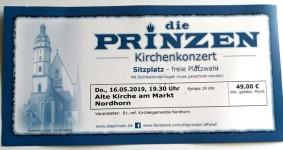 DIE PRINZEN - unbenutztes KONZERT-Ticket