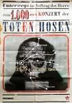 Rarität: DIE TOTEN HOSEN - Plakat zum 1000sten Konzert der Band - 1997