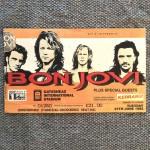 """BON JOVI - Ticket - """"These Days"""" Tour 1995, England"""