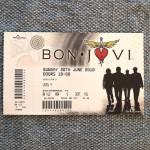 """BON JOVI - Ticket - """"The Circle""""- Tour 2010, England"""