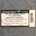 """RARITÄT! - BON JOVI - Ticket - """"Bon Jovi - live""""- Tour 2011, Bristol England"""
