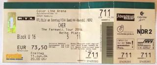 "CHER - Ticket - ""The Farewell Tour 2004"" - Hamburg"