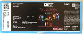 "MUSE - unbenutztes Ticket - ""Simulation Theory"" - Tour 2019 - KÖLN"
