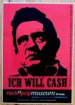 JOHNNY CASH - seltener Promoaufkleber für eine Ausstellung - 2010