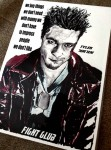 "Fine Art Print - BRAD PITT - Motiv aus ""Fight Club"" - FANART"