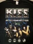 """KISS - Tour-Shirt """"40th Anniversary World Tour 2015"""" - ungetragen"""