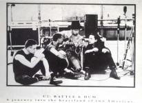 "Postkarte - U2 ""Rattle & Hum - A Journey into the Heartland..."" - ungelaufen - England"