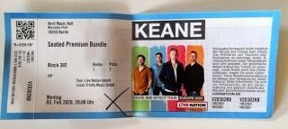 KEANE - Konzert-Ticket - Berlin - 03.02.2020