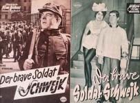 """HEINZ RÜHMANN - Set aus zwei Filmprogrammen zu """"Der brave Soldat Schwejk"""" - Vintage!"""