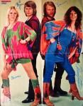 ABBA - Poster - ca. 40 x 50 mit gedrucken Unterschriften - 70er Jahre