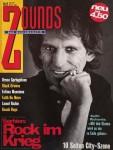 """KEITH RICHARDS auf dem Cover des """"Zounds- Musikmagazin"""" - 1992"""