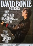 "DAVID BOWIE - ""Glass- Spider- Tour 1987"" - Plakat für Hamburg"