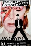 """DAVID BOWIE - """"Sound & Vision - Tour 1990"""" - Plakat für Frankfurt"""