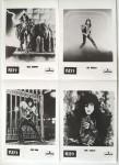 SET aus 4 Promo-Fotos - KISS - schwarz/weiß - Frühe 1980er