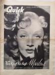 """MARLENE DIETRICH - Coverstory der Zeitschrift """"Quick"""" von 1950 (!!)"""
