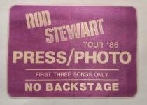 Presse-Pass - ROD STEWART - Tour 1986 - used