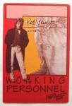 """ROD STEWART - """"Working""""- Pass - Vagabound Heart Tour 1991"""