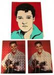 ELVIS PRESLEY - 3 Sticker - unbenutzt - etwa 70er Jahre