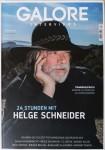 Magazin - HELGE SCHNEIDER auf dem Cover der GALORE von 2018
