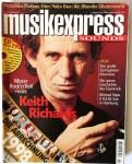 """KEITH RICHARDS auf dem Cover des """"MUSIKEXPRESS"""" - Deutschland - 1999"""