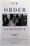 """NEW ORDER """"Substance 1987"""" - unbenutzte Postkarte um 1990"""