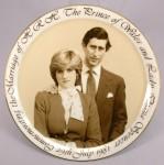 Andenkenteller zur Hochzeit von Lady DIANA & Prinz CHARLES - 1981
